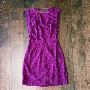 Royal Purple lace dress